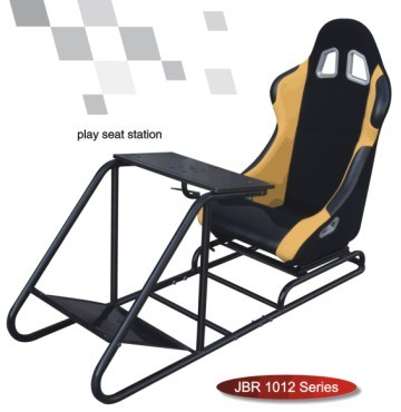 Play Station WIth Seat Sport Racing Sears Simulator Cockpit Gaming Chair-JBR1012