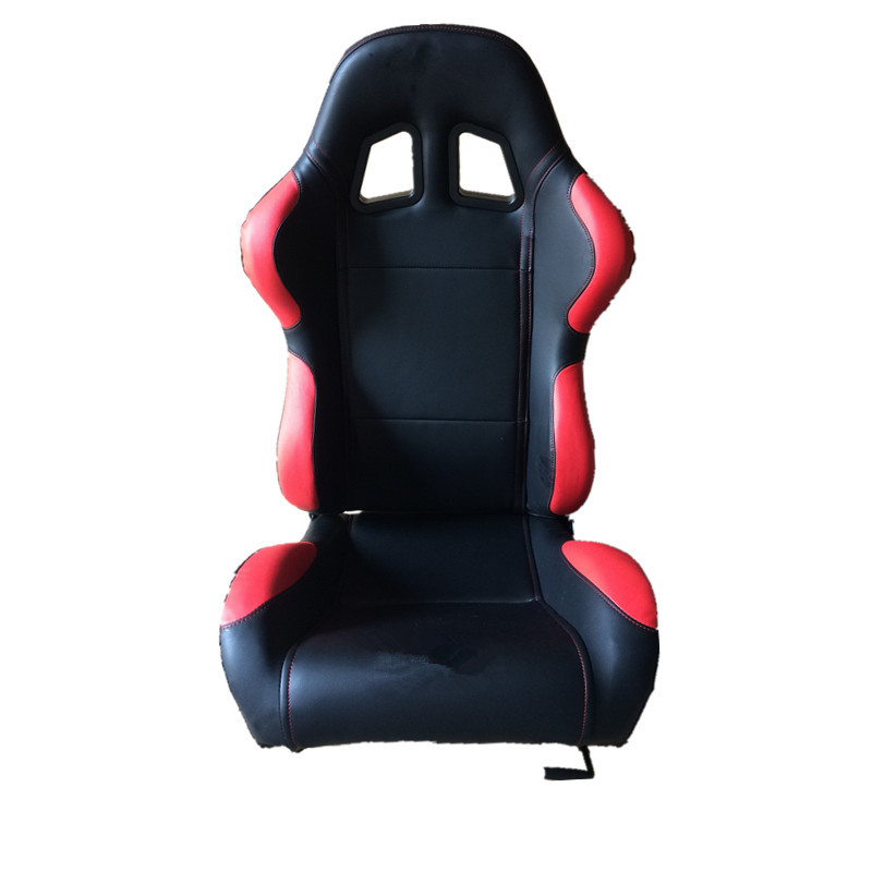 High Performance Black Sport Racing Seats Fabric And Carbon Look Material